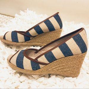 G.H. BASS & CO KATE Stripe Wedge Heel